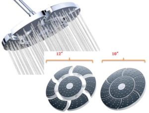 A-Flow™ Unique Luxury Large 10 Rainfall Showerhead