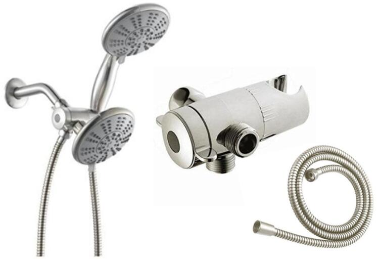 Ana Bath SS5450CBN 5 Inch 5 Function Handheld Shower and Showerhead Combo Shower System PVD Brushed Nickel Finish