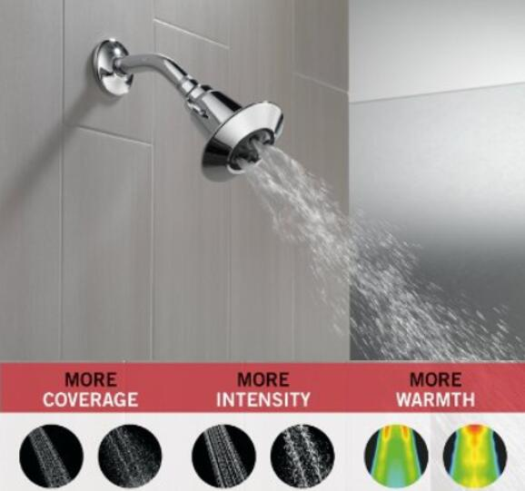 Delta 75152 Single-Function Shower Head with H2Okinetic Technology