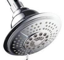HotelSpa® High-Power Ultra-Luxury 7-Setting Large 5 Inch Shower-Head with Quick Connect