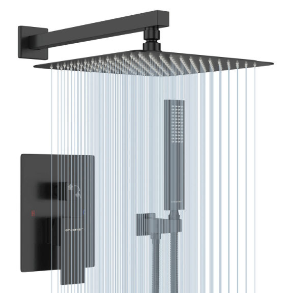 ceiling mounted rain shower faucets