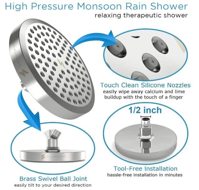 hand held shower heads that increase water pressure reviews