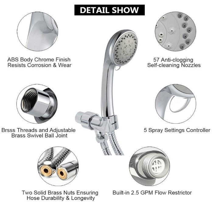 best high pressure handheld shower head reviews