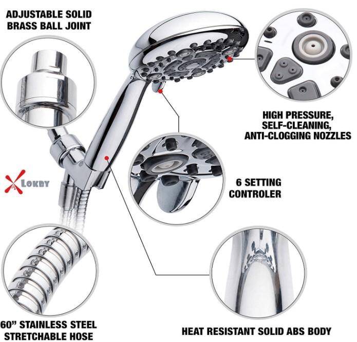 high pressure handheld shower heads