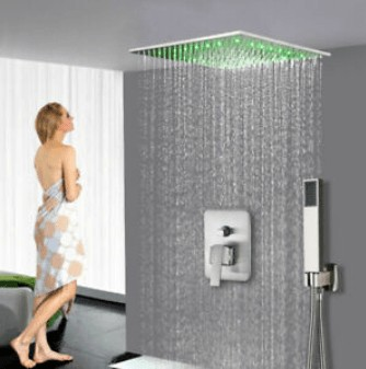 ceiling mounted waterfall shower head