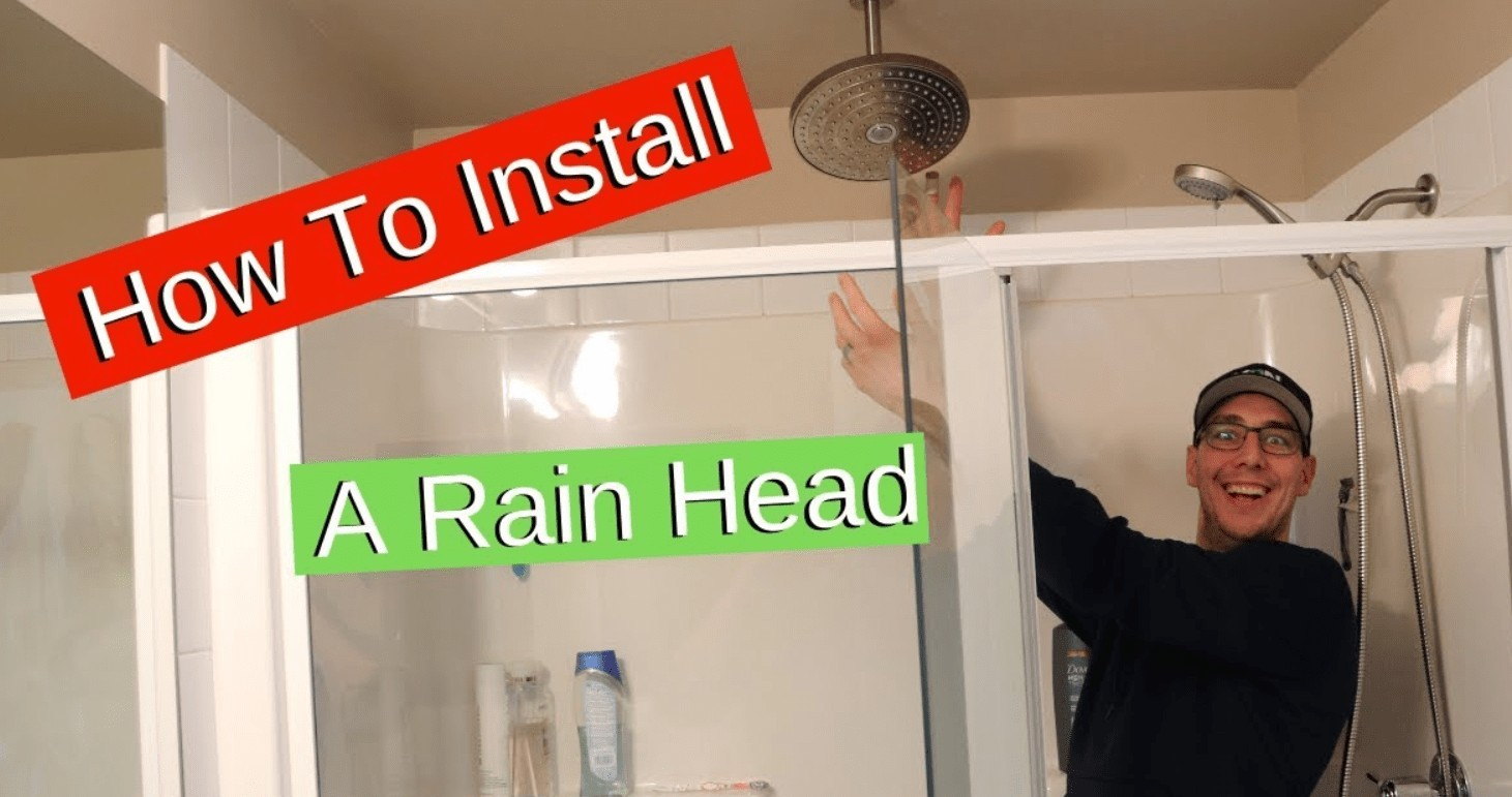 how to install a ceiling mounted rain shower head