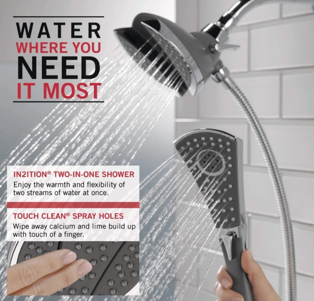 best delta shower head under 100