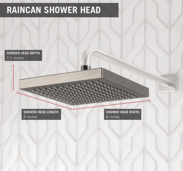 wall mounted rain shower head reviews