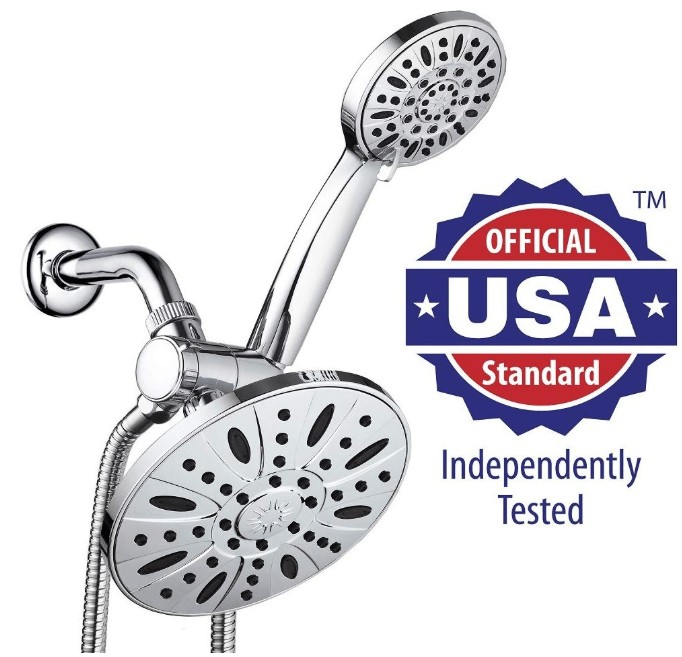 dual shower head and handheld combo shower head