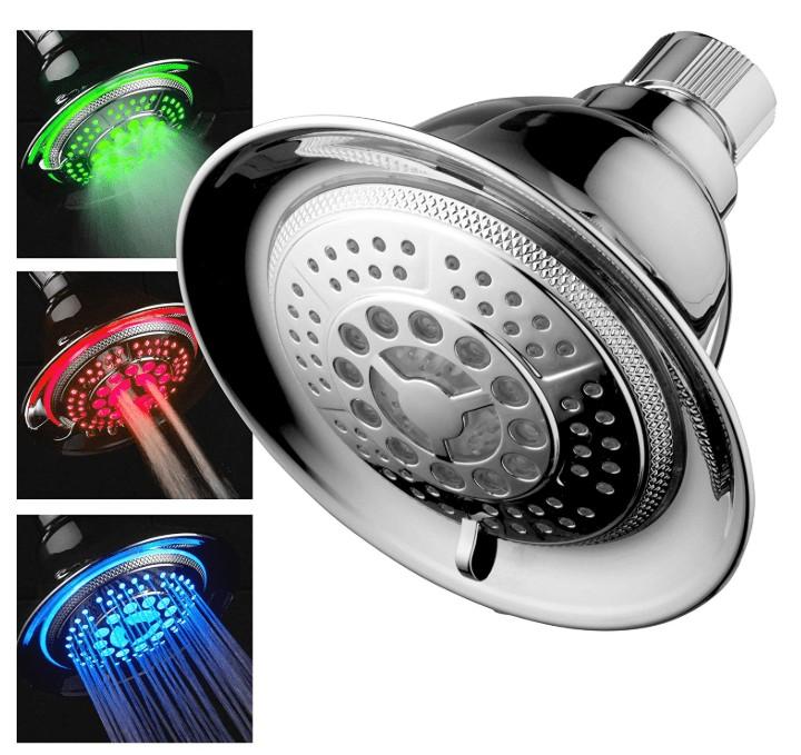 best LED massaging shower head
