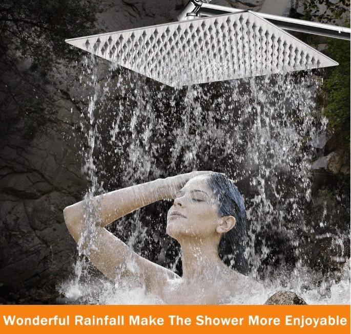 best massaging rainfall shower head