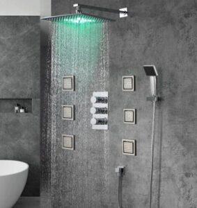 water massage shower head