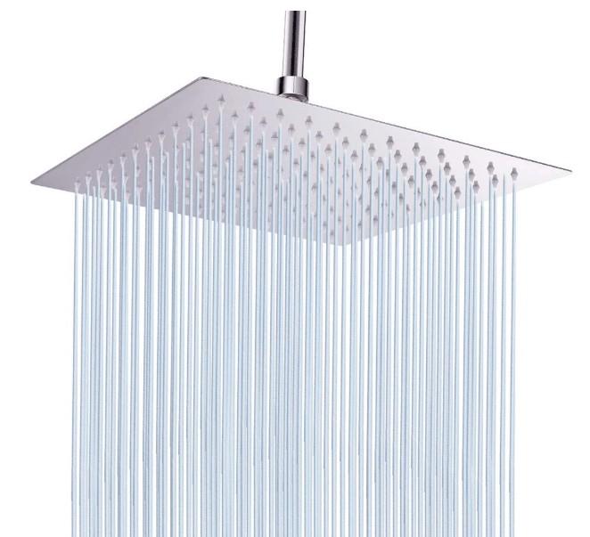 best square rain shower head set