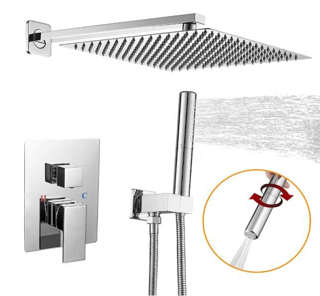 best wall mounted rain shower head
