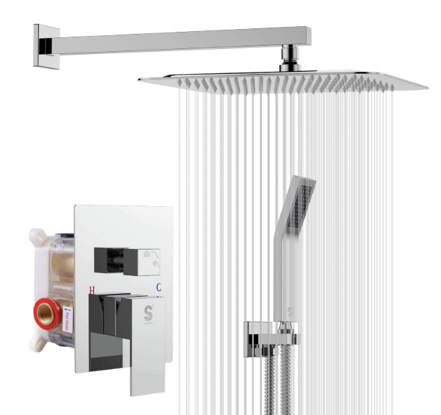best wall mounted shower system