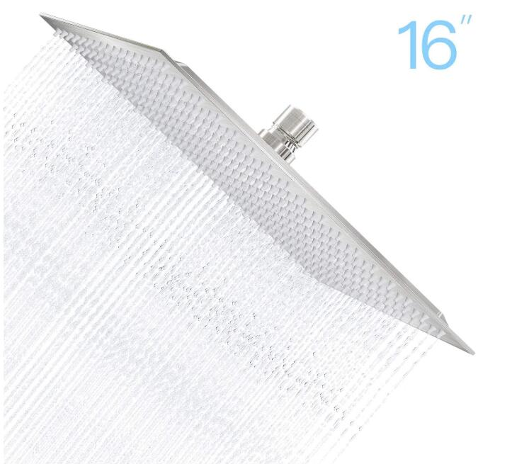 large overhead shower head