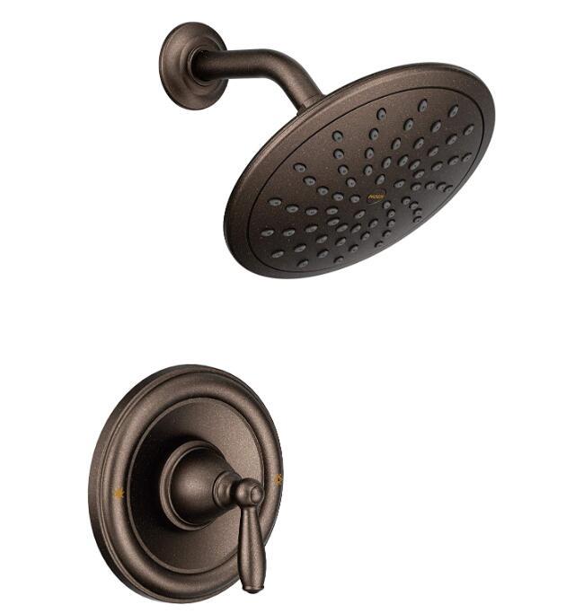 moen bronze shower head