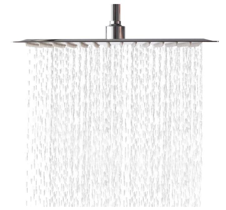 overhead rain shower system