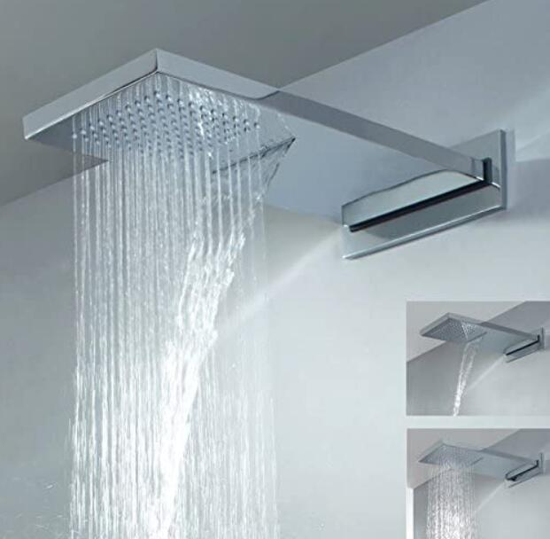 best rectangular shower head with waterfall