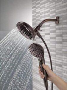 black delta shower head