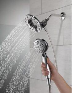 delta dual shower head guides